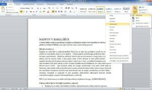 Nastavení stylu textu ve Wordu